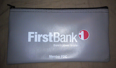 Bank Bag   1 Brand New First Bank Vinyl Bank Deposit Money Bag Tool Organizer