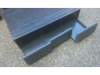 Vintage 'Black Ash Effect' 3-Drawer Cassette Storage Box .. (can hold 36 cassettes)