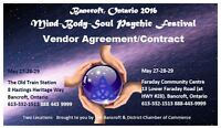 MAY 27-29 Festival Vendors Wanted - Wellness and Psychic