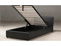 ▐ Supper Fast Delivery ▐ Single Storage Leather Bed and Mattress