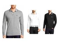Men's Hugo Boss Armani Ralph Lauren North Face Long Sleeve Polo Jackets