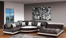 Brand NEW Leather sofa Lounge AVAILABLE IN DIFFERENT COLOURS YFF Auburn Auburn Area Preview