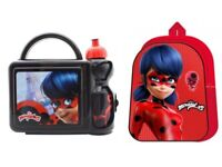 Miraculous Ladybug Arch Backpack, Lunch box and bottle