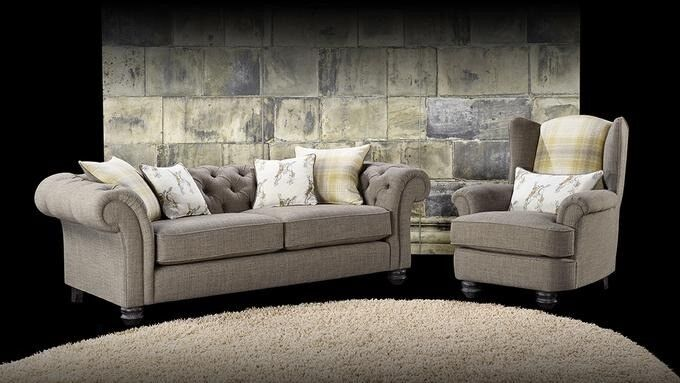 Homeflair Lebus Chesterfield Fabric Sofa Collection