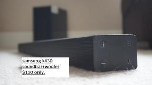 Samsung HW K 430 220-Watt 2.1 Channel Flat Sound Bar with Wireless Subwoofer