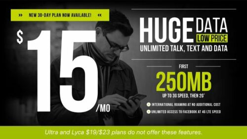 Go Smart Sim $15 Plan, 1months(30days) Unlimited Talk & Text, Included.