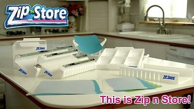 Zip-n-Store Plastic Bag Storage Organizer For Refrigerator Pantry Garage Crafts