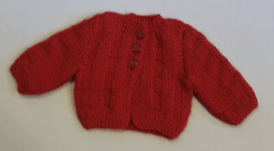 "Lovvbugg Red Cardigan Sweater for 18"" American Girl or Baby Doll Clothes"
