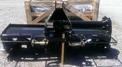 New 55 3 Pt Point Rotary Tiller Plus Pto Driven Post Hole Auger With 12 Auger