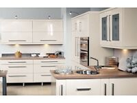 Complete Kitchen,Cream Gloss Including Appliances