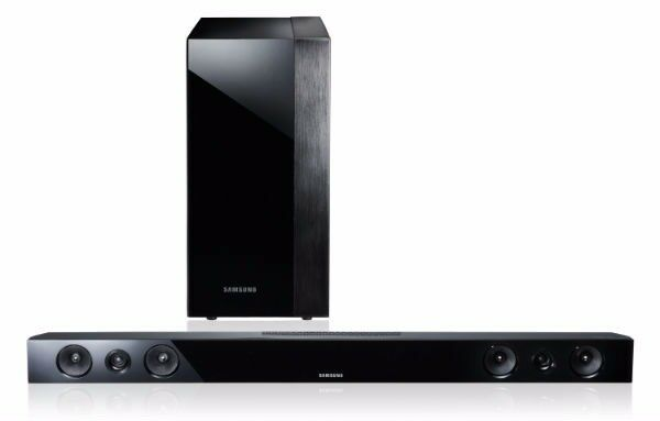 Samsung TV HW-E450 Soundbar and Wireless Subwoofer PS-WE450 and remote control
