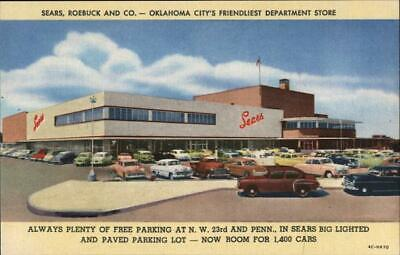 Oklahoma City,OK Sears,Roebuck and Co. Teich Advertising Linen Postcard Vintage