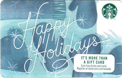 Starbucks 2017  Happy Holidays   Christmas Card
