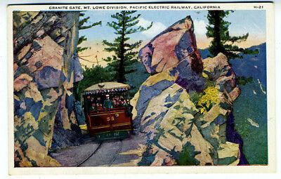 1920 Postcard Granite Gate Mt Lowe Pacific Electric RR