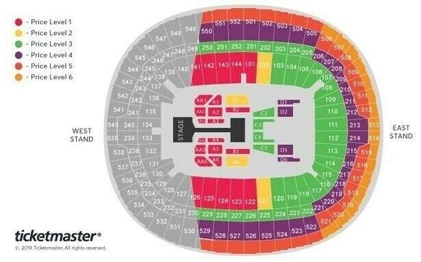X2 Bts World Tour Tickets London Wembley Saturday June 1st 2019