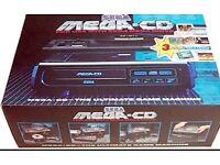 Sega mega cd 1 wanted and games