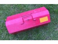 Vintage Kennedy Metal Tool Box Carry Case Storage