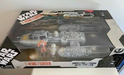 Y-Wing Fighter 2007 w Pilot STAR WARS 30th Anniversary Collection TRU Exclusive