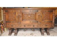 Large solid wooden sideboard