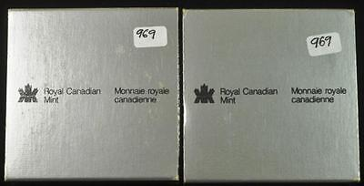2 1983 Silver Proof Canadian Dollars Lot 289