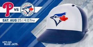 TORONTO BLUE JAYS SAT AUGUST 25 PHILADELPHIA PHILLIES HELMET