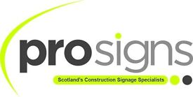 Experienced Sign Fitters & Estimator