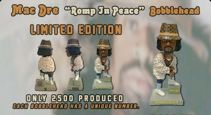 """MAC DRE """" ROMP IN PEACE """" LIMITED EDITION BOBBLEHEAD /2500 ANDRE HICKS"""