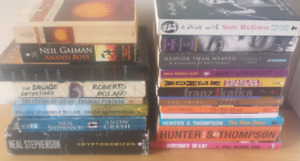 Assortment of Books: Biographies and Fiction/Sci-Fi