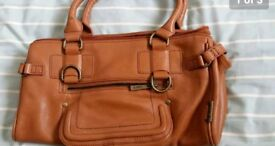 4 large leather handbags £10 each or all four £30