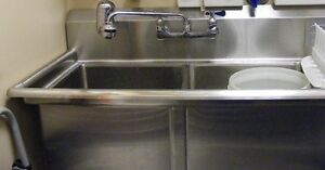 Double Sink and Grease Trap