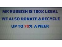 Rubbish clearance half load from £90 full load from £120 garden garage house shed loft waste removal