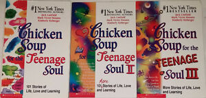 Chicken Soup for the Teenage Soul I, II, II 3 Books in Box Set
