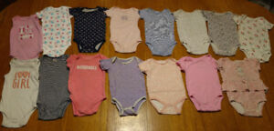 Lot of baby girl onesies 6-9 months