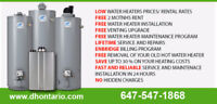 Rent Water Heater - NO COST TO INSTALL << CALL TODAY >>