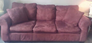 Micro Fiber Couch with pull out bed.  ..... FREE !!