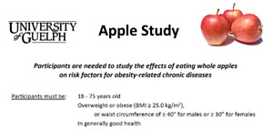 Apple Study - 5 hrs over 8 wks for $110 compensation!