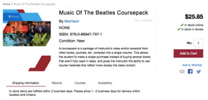 Music Of The Beatles Coursepack Concordia
