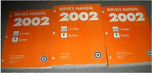2002 Chevy Cavalier-Pontiac Sunfire Shop Service Manual Set