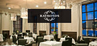 $150 Raymonds Restaurant gift card for $125