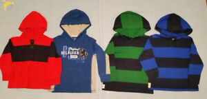5T Boy Long sleeve hooded shirts