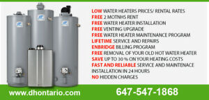 Hot Water Tank Rental - Reduced rental rates - Call Today