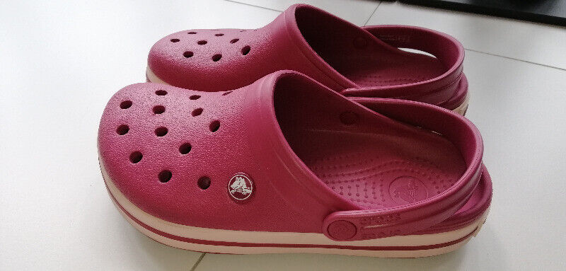 Preloved Authentic Crocs Crocband™ Clog - Pomegranate & Rose Dust - Size W7