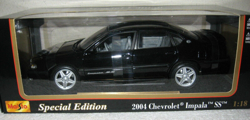 2004 Chevrolet Impala Ss Black 1 18 Scale Diecast Model