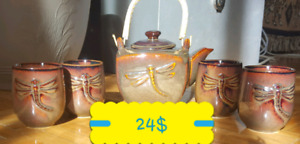 TEAPOT DRAGONFLY STYLE/ 4 CUPS AT 24$
