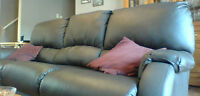 Couch with end recliners