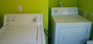 Kenmore set washer and dryer