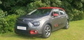 image for 2021 '21' CITROEN C3 PURETECH [83] SHINE IN PLATINUMGREY WITH RED ROOF.