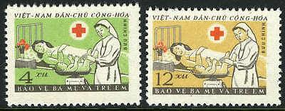 Viet Nam 158-159,MI 164-165, MNH. Children's Day, Red Cross, 1961