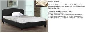 40% OFF Until August 27,2016. TWIN OR DOUBLE LEATHERETTE PLATFORM BEDS (MATTRESS NOT INCLUDED) REGULAR $399 NOW $237.