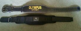 Two Brilliant Quality Gym Belts & Knee Straps + Wrist • Body Building •